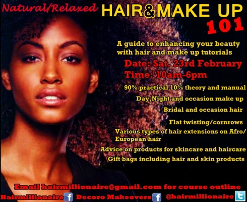 Hair & Make Up 101 Natural Hair Event