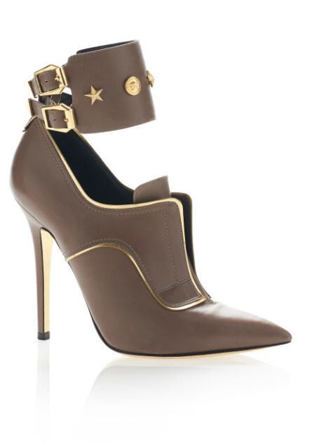Versace pre-fall 2013 Studded Stiletto Shoes Brown