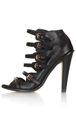 Black Gelda Multibuckle heels topshop