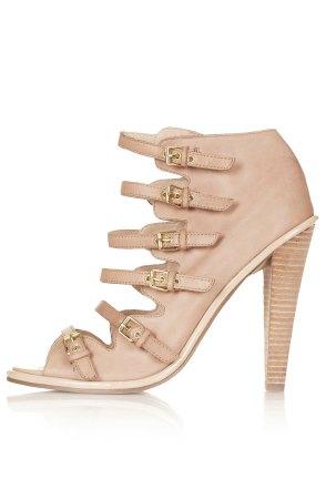 Nude Gelda multi buckle heels Topshop