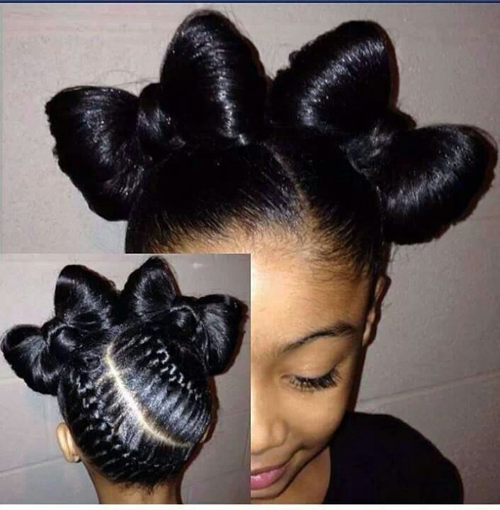 child bow natural hair style