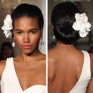 Elegant natural updo