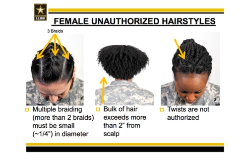 New Army Rules Ban Protective Styles