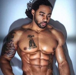Sexy man with dreadlocks
