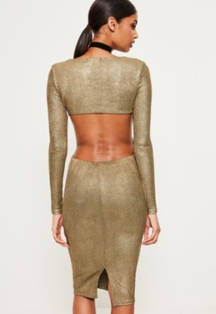 gold-foil-rib-open-back-midi-dress